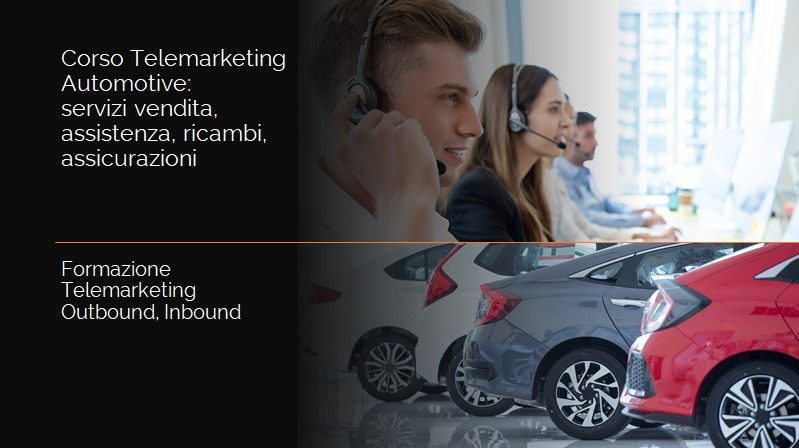 Corso Telemarketing Automotive Assistenza Ricambi